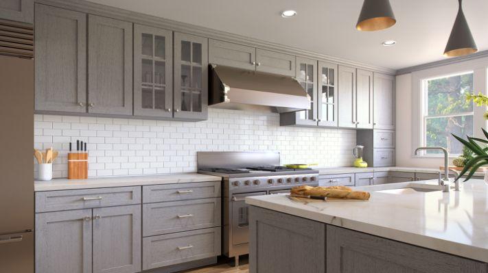 Lgs Light Grey Shaker Zmc Cabinetry
