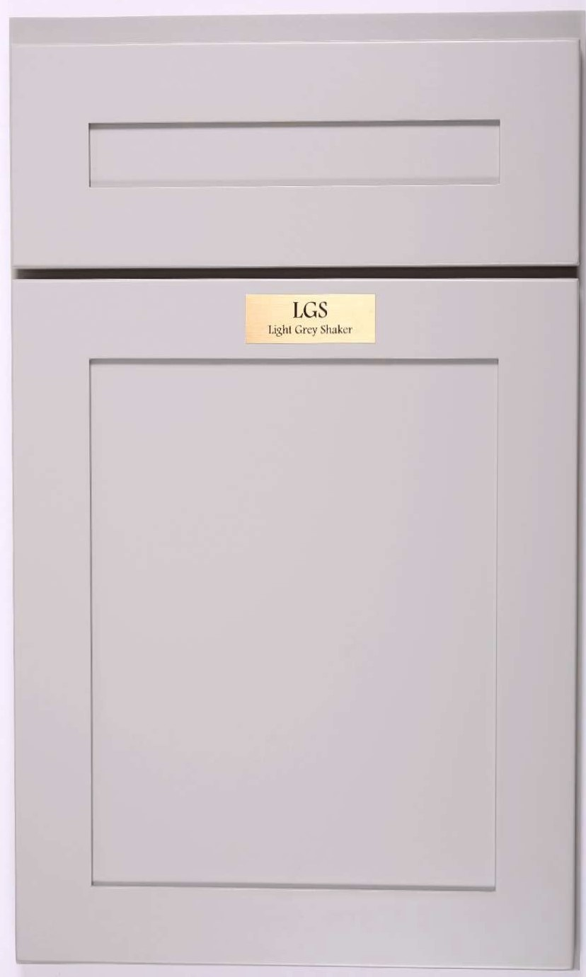 LGS Light Grey Shaker ZMC Cabinetry - Light grey shaker cabinets